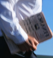 Carrying a Newspaper, Newspaper Delivery